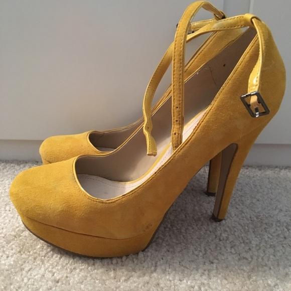 5d861c02bbc Aldo Shoes - Mustard yellow high heels